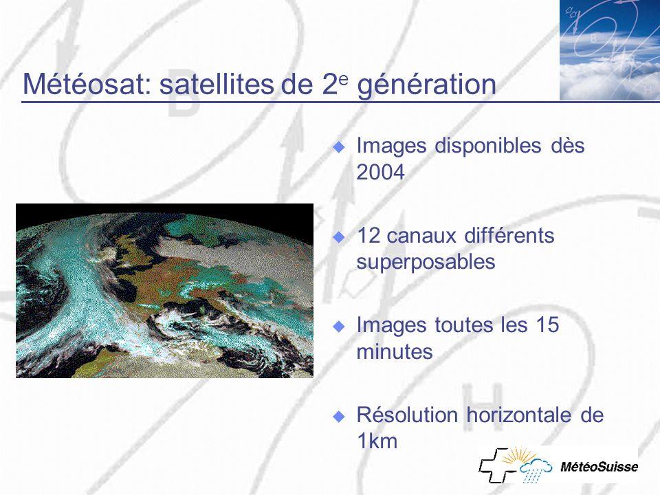Météosat: satellites de 2e génération