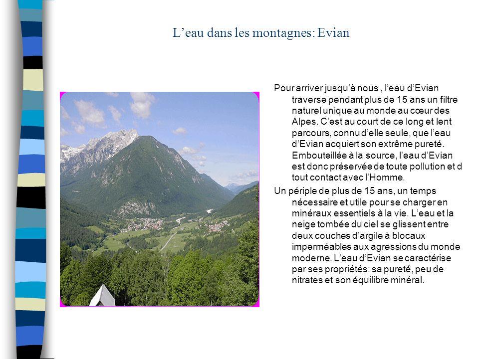 L'eau dans les montagnes: Evian