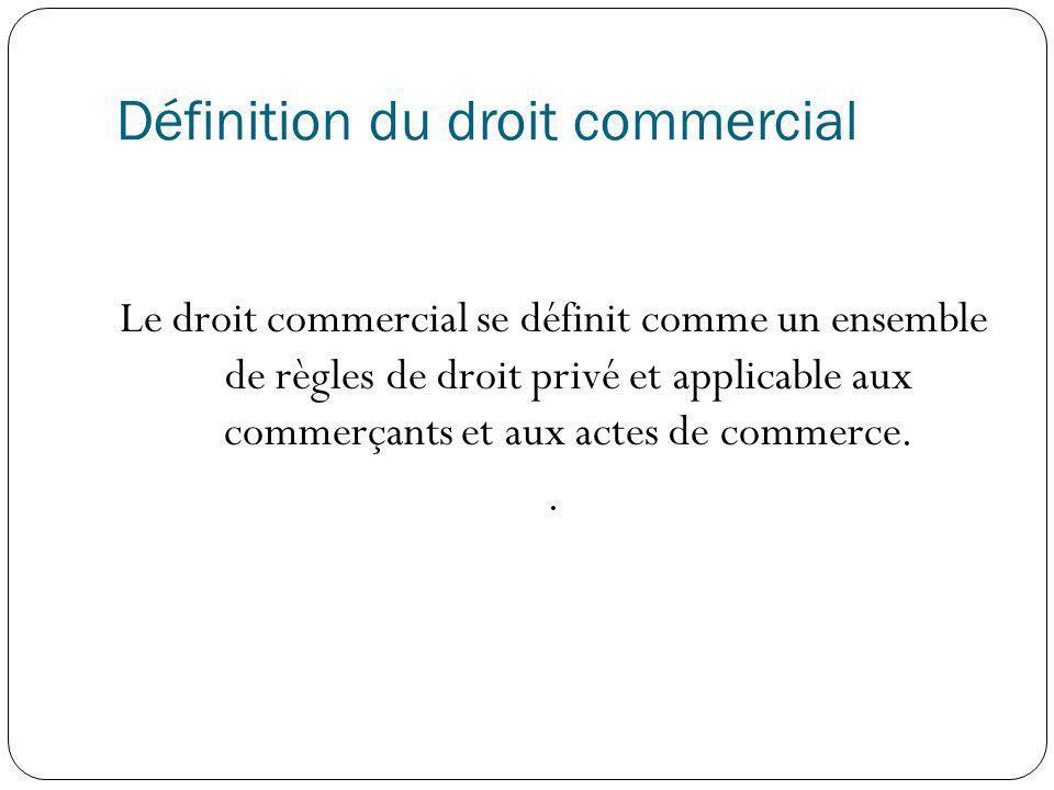 Définition du droit commercial