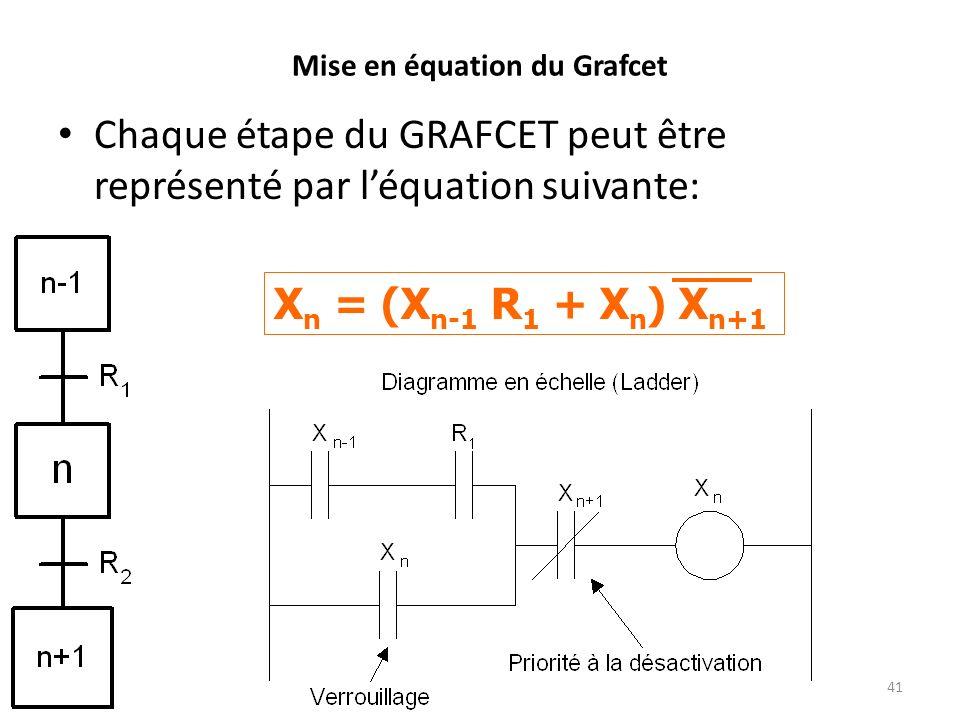 Mise en équation du Grafcet