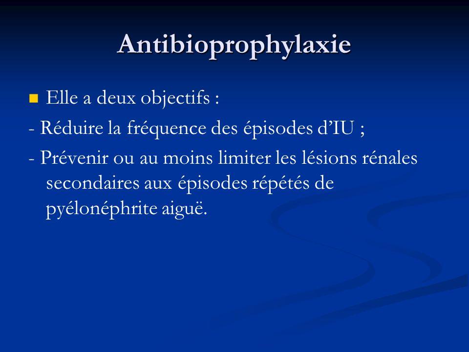 Antibioprophylaxie Elle a deux objectifs :