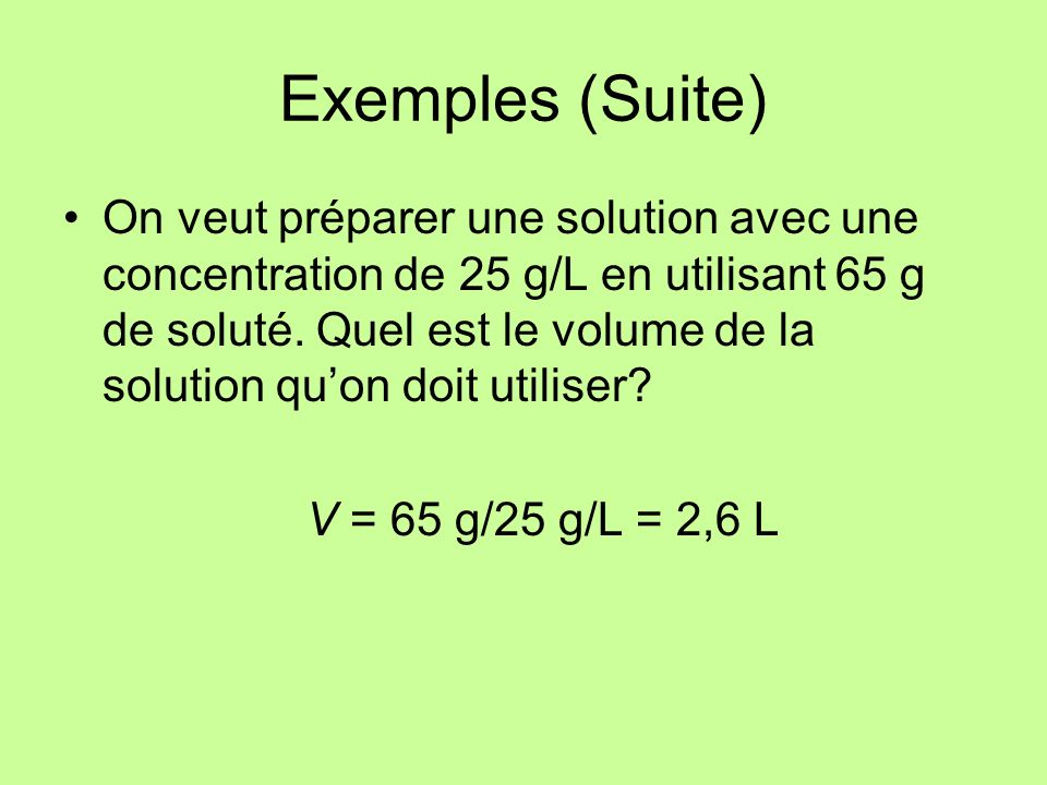 Exemples (Suite)