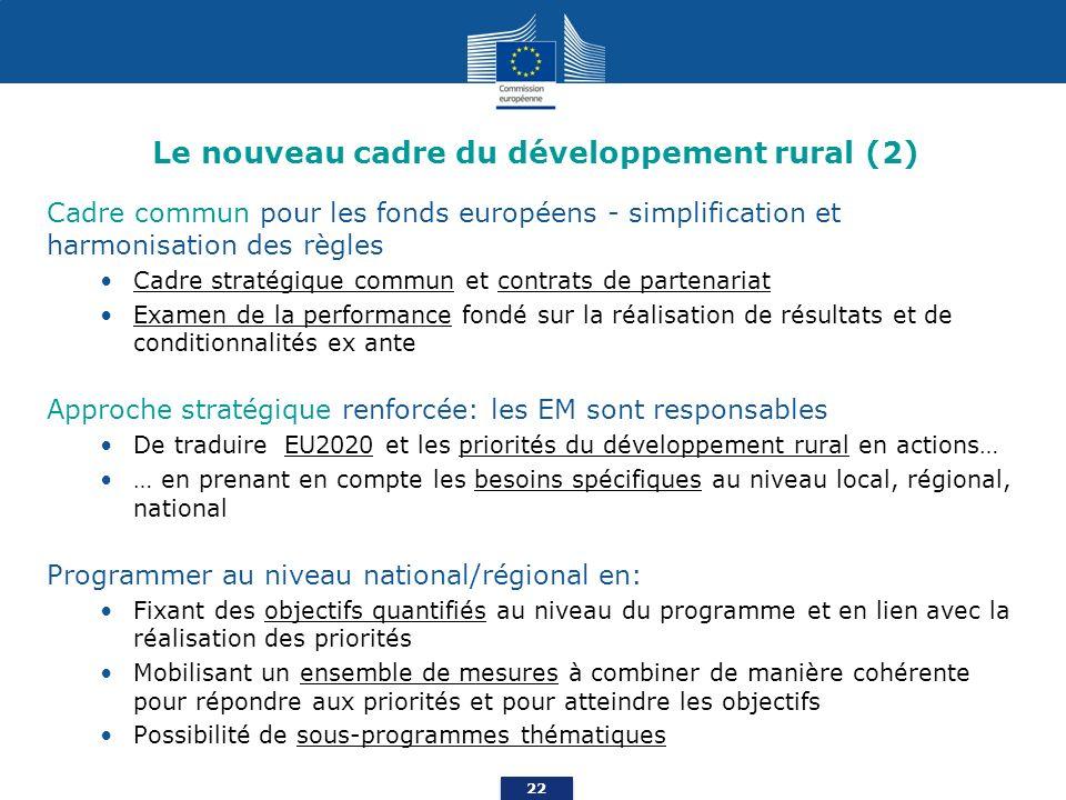 Le nouveau cadre du développement rural (2)