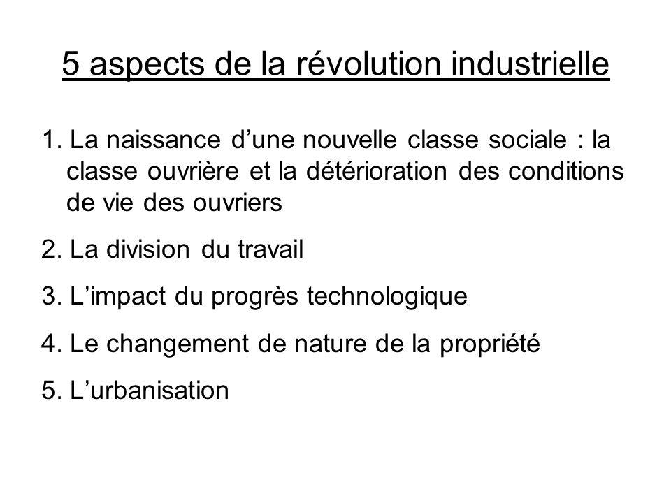 5 aspects de la révolution industrielle