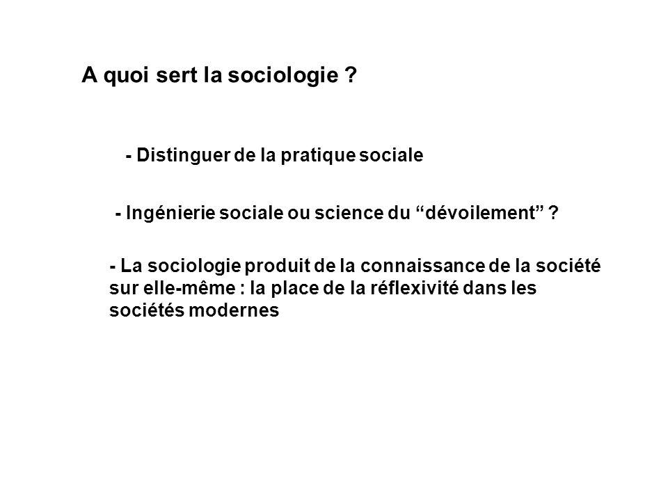 A quoi sert la sociologie