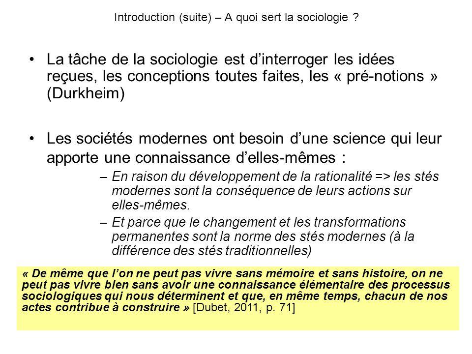 Introduction (suite) – A quoi sert la sociologie