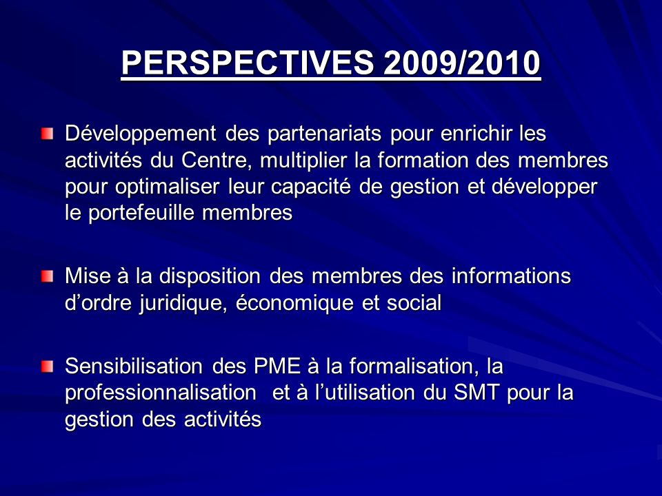 PERSPECTIVES 2009/2010