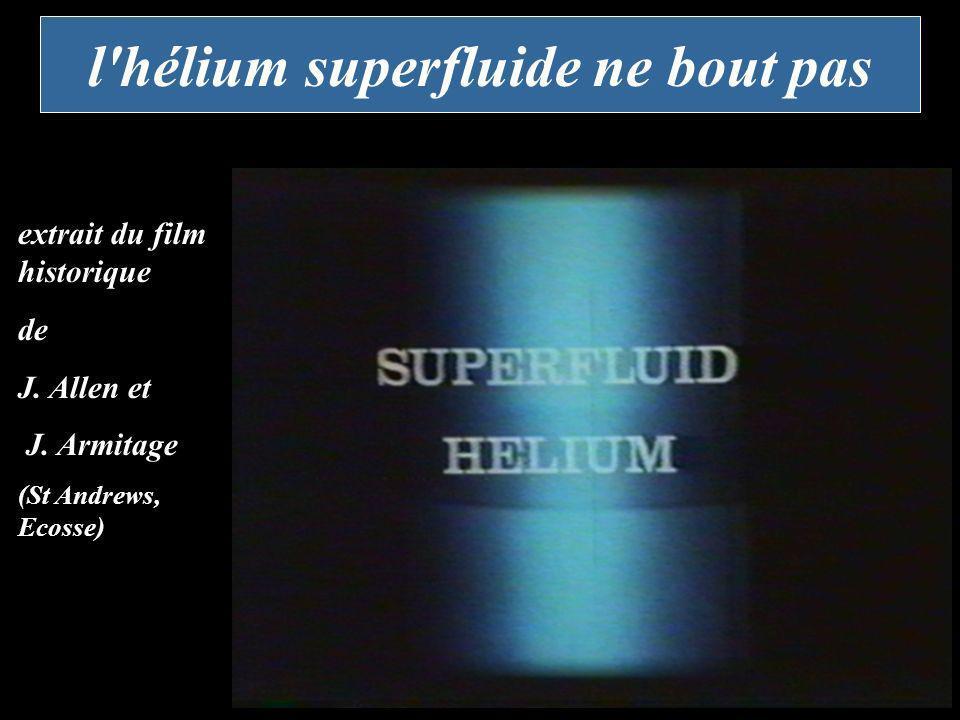 l hélium superfluide ne bout pas
