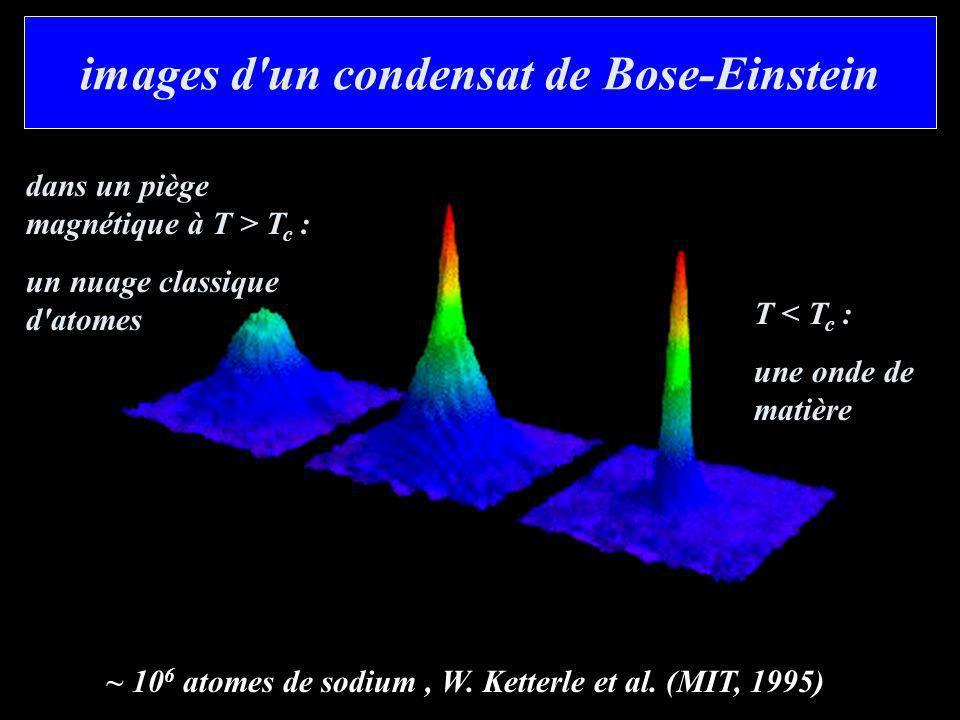 images d un condensat de Bose-Einstein
