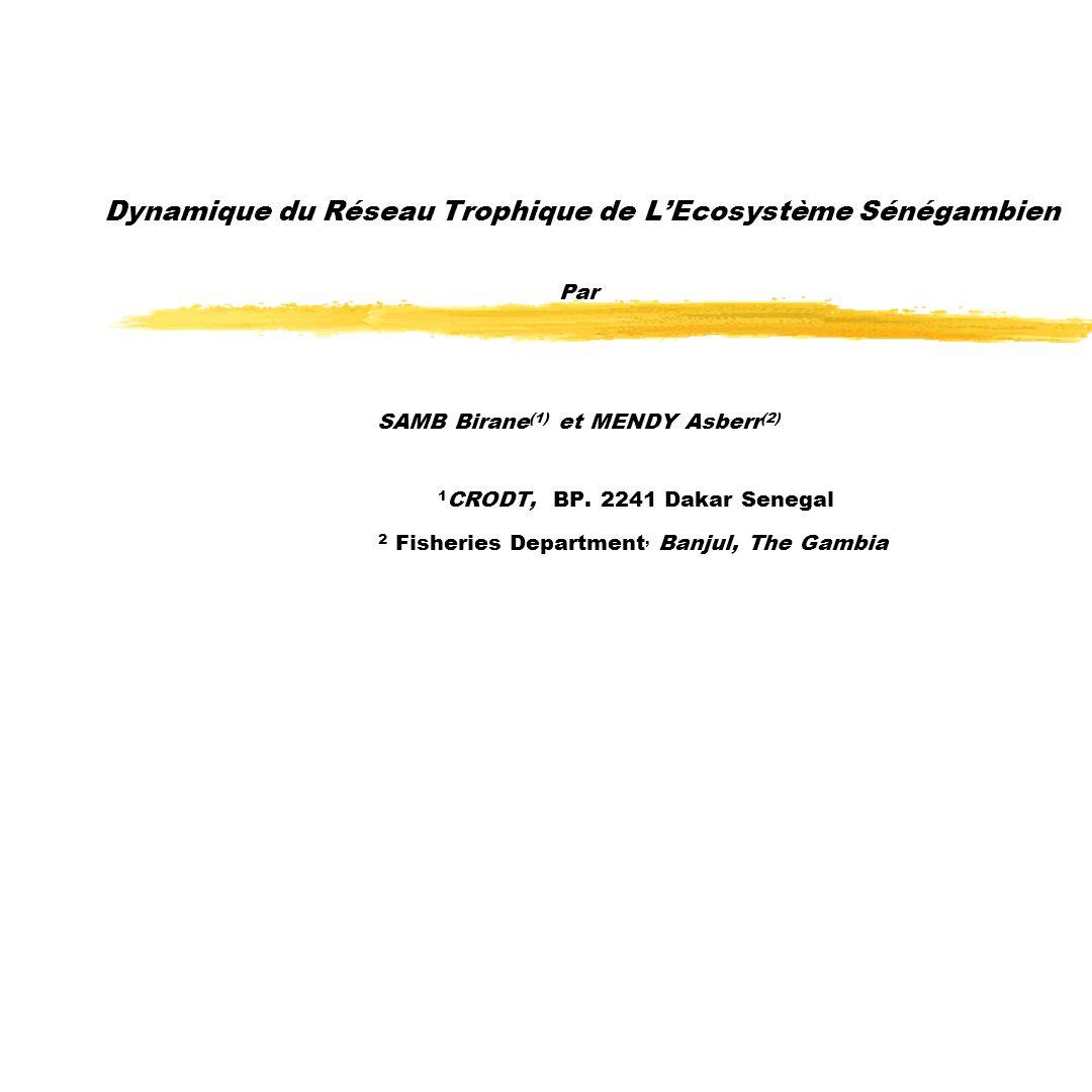 Dynamique du Réseau Trophique de L'Ecosystème Sénégambien Par SAMB Birane(1) et MENDY Asberr(2) 1CRODT, BP.