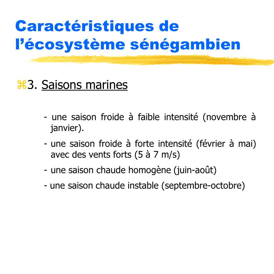 Caractéristiques de l'écosystème sénégambien