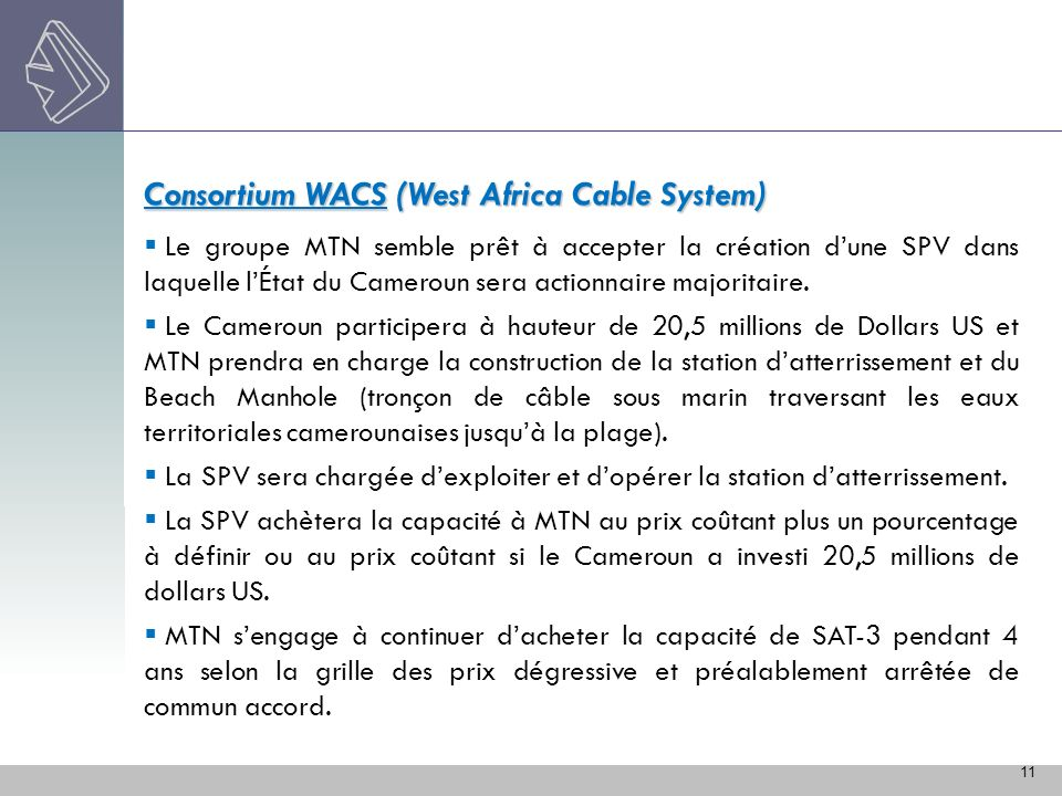 Consortium WACS (West Africa Cable System)