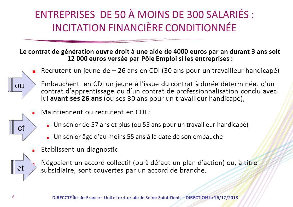 ENTREPRISES DE 50 À MOINS DE 300 SALARIÉS : INCITATION FINANCIÈRE CONDITIONNÉE