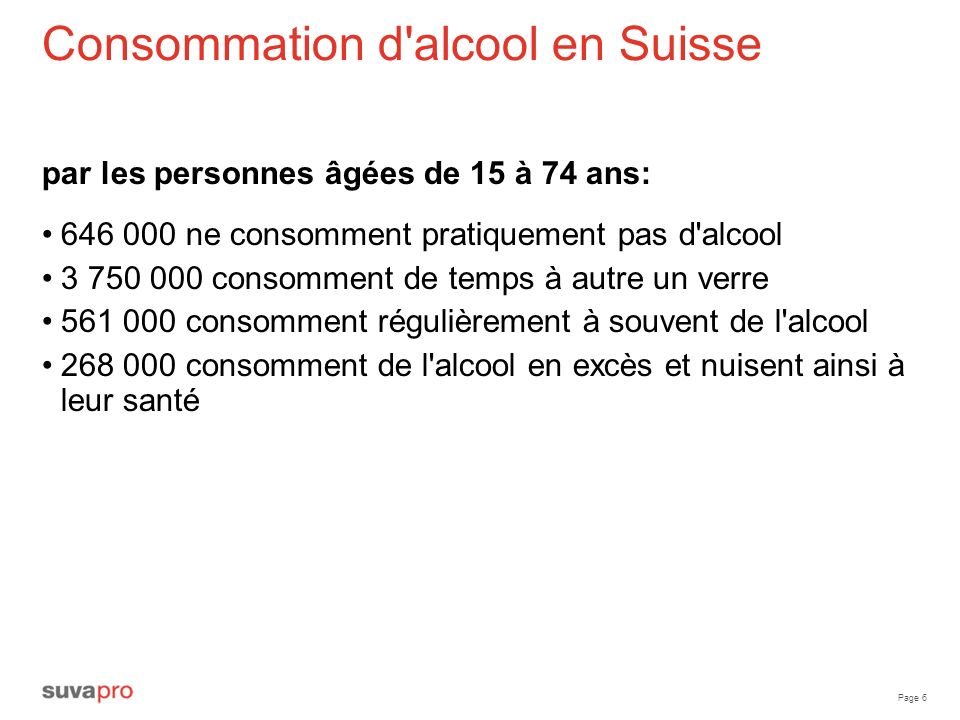 Consommation d alcool en Suisse