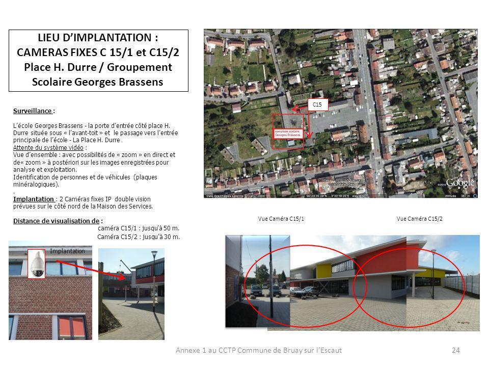 Annexe 1 au CCTP Commune de Bruay sur l'Escaut