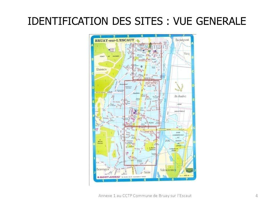 IDENTIFICATION DES SITES : VUE GENERALE