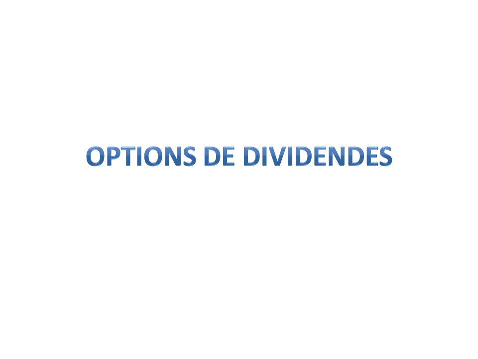 Options de dividendes 15