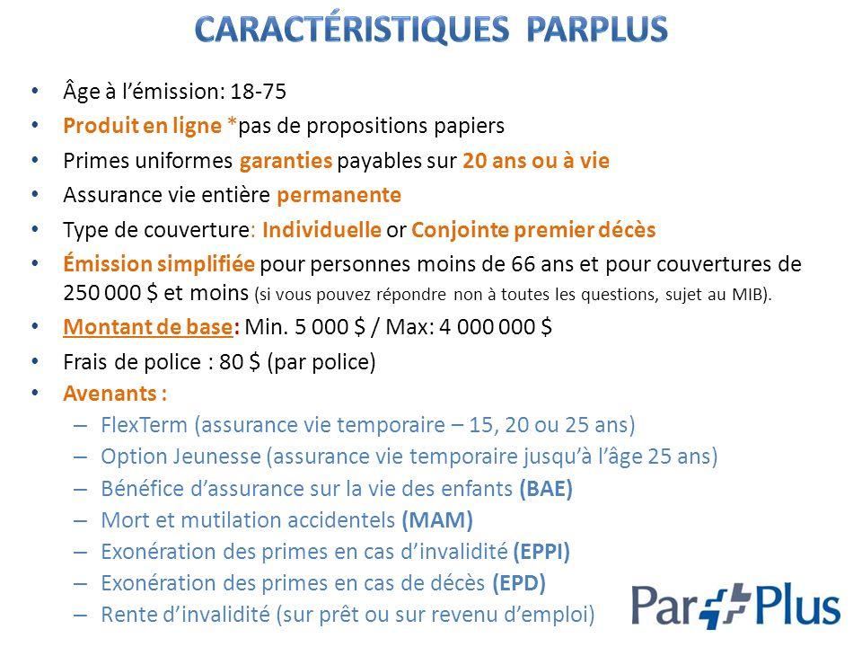 Caractéristiques ParPlus