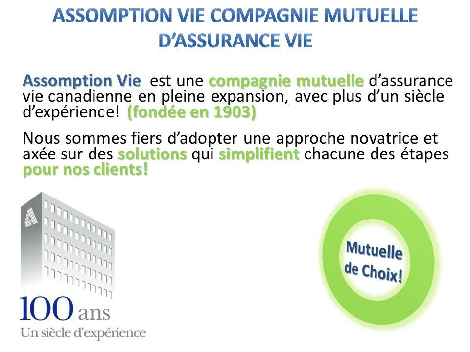 ASSOMPTION VIE COMPAGNIE MUTUELLE D'ASSURANCE VIE