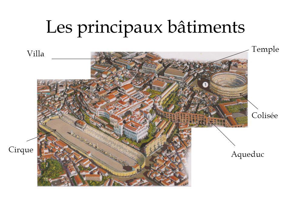 Les principaux bâtiments