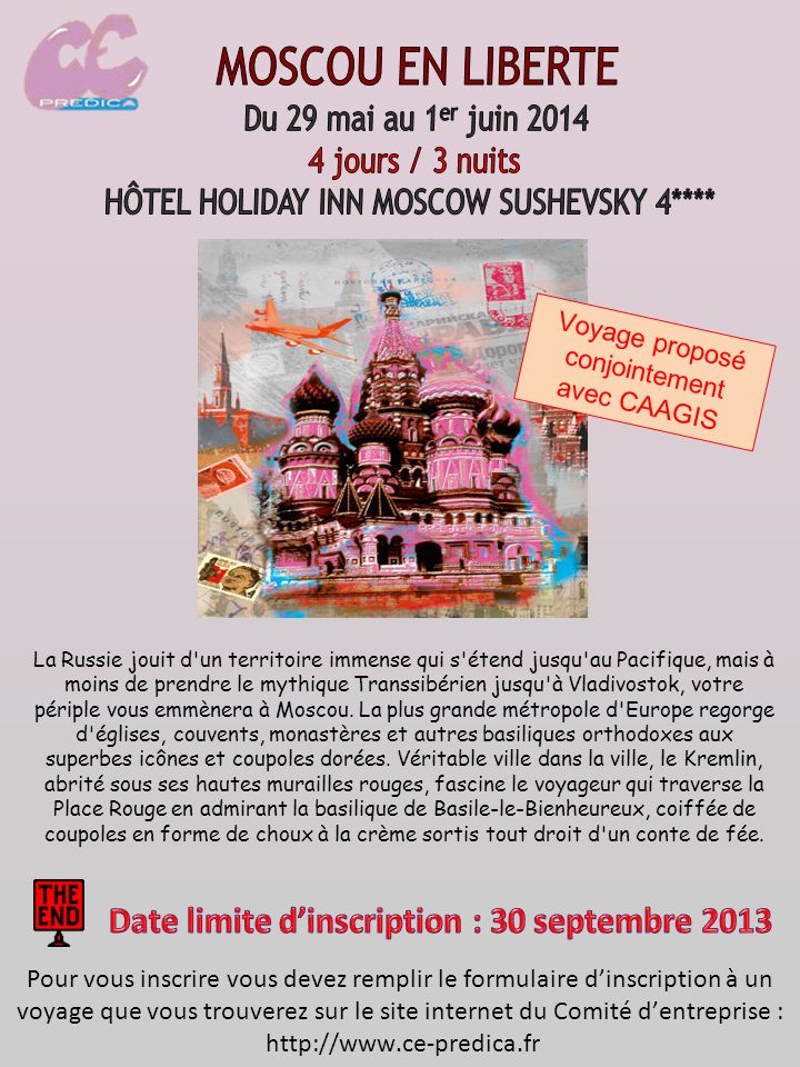 Date limite d'inscription : 30 septembre 2013