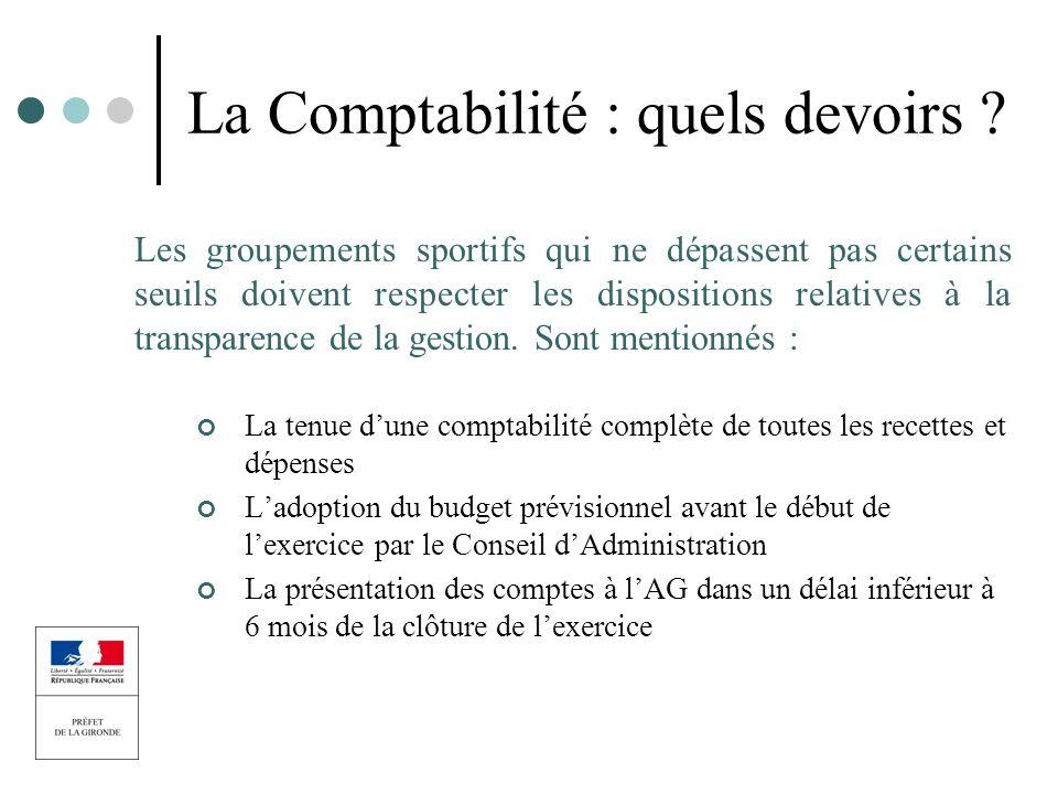 La Comptabilité : quels devoirs
