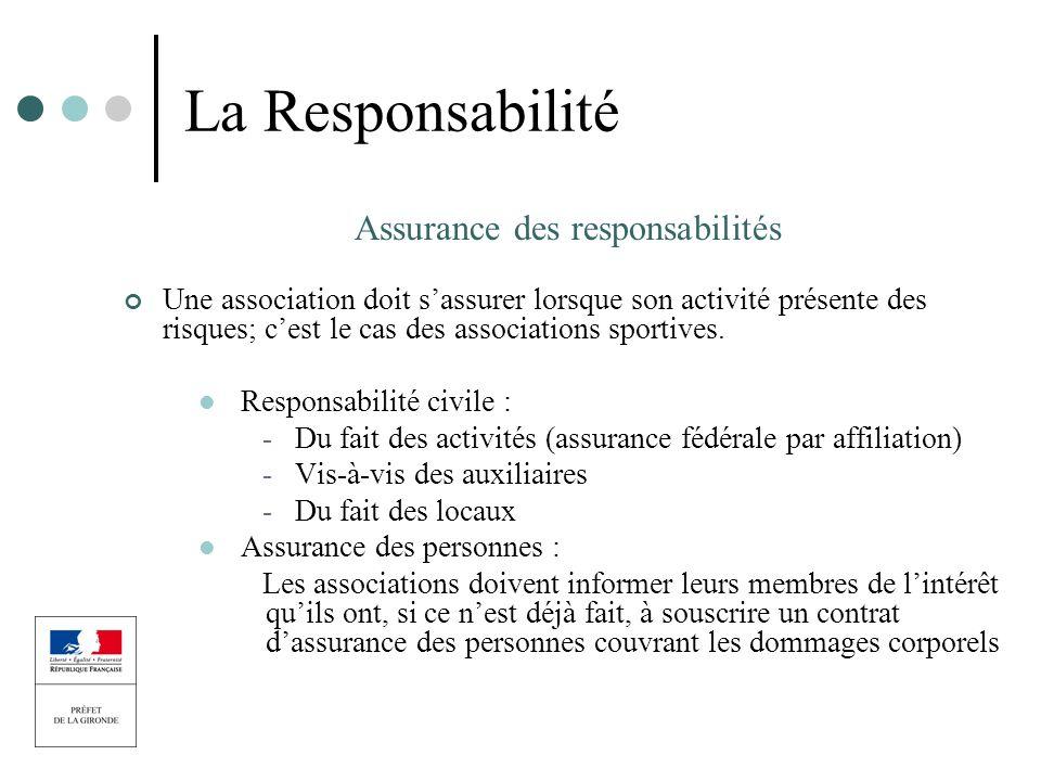 Assurance des responsabilités