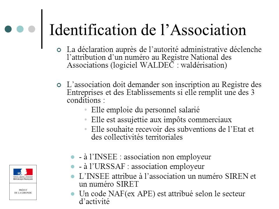 Identification de l'Association