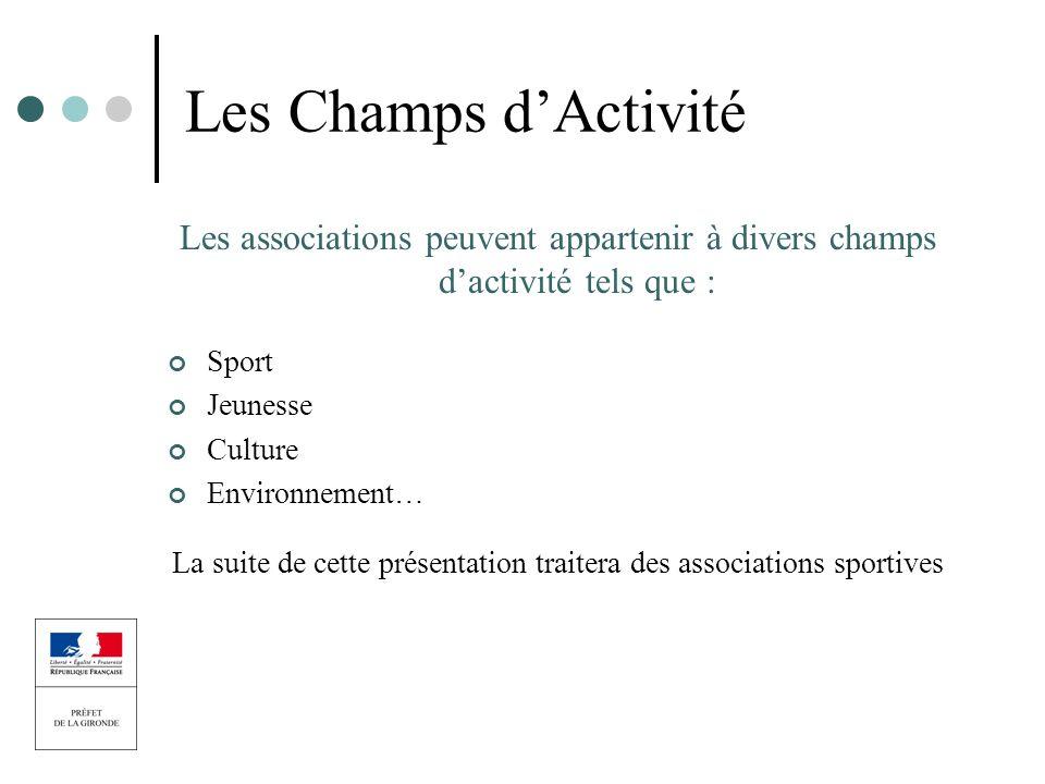 La suite de cette présentation traitera des associations sportives