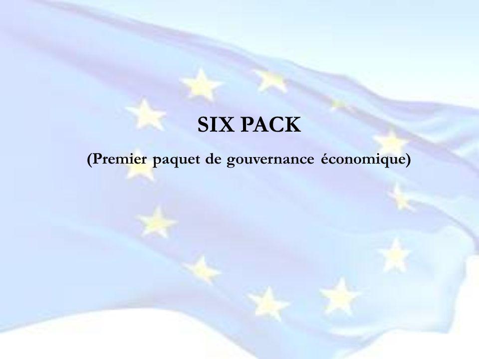 (Premier paquet de gouvernance économique)