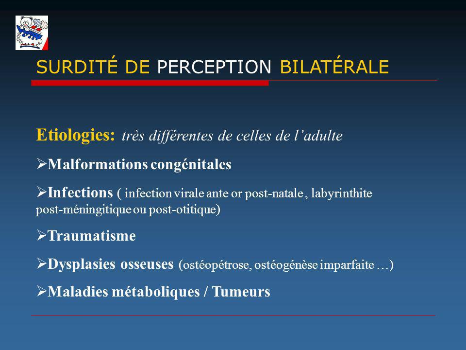 SURDITÉ DE PERCEPTION BILATÉRALE
