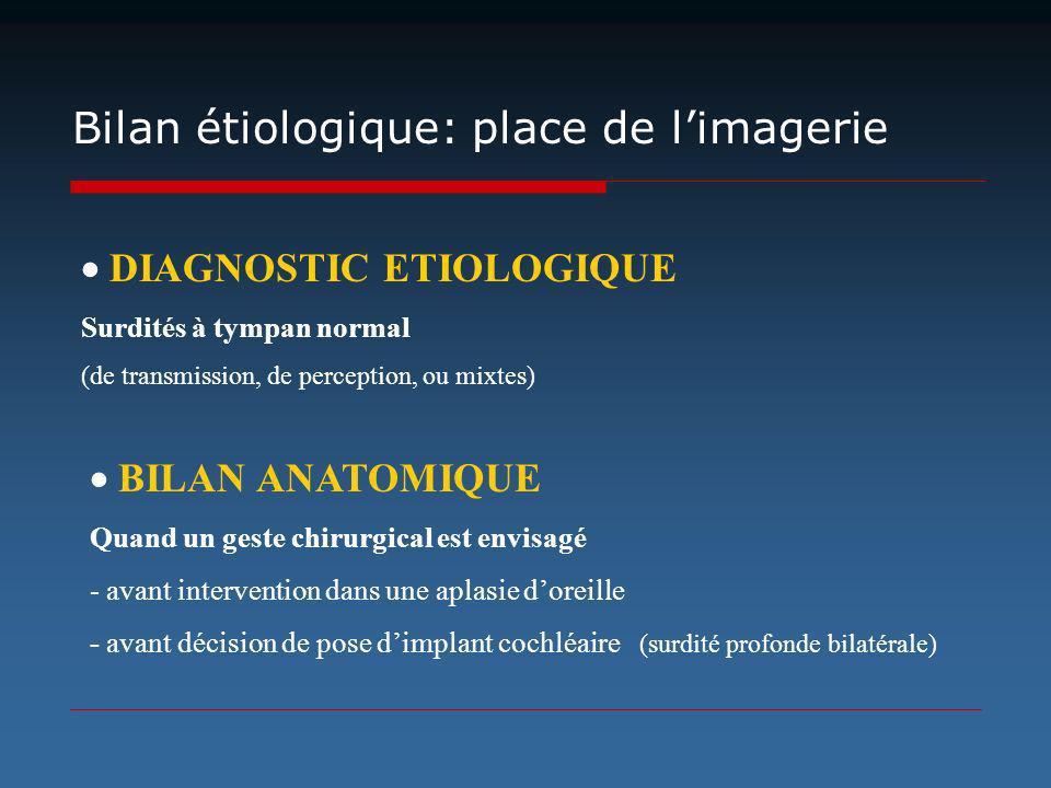 Bilan étiologique: place de l'imagerie