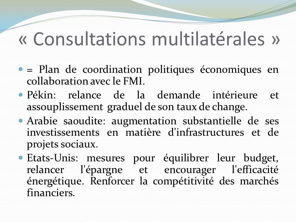 « Consultations multilatérales »