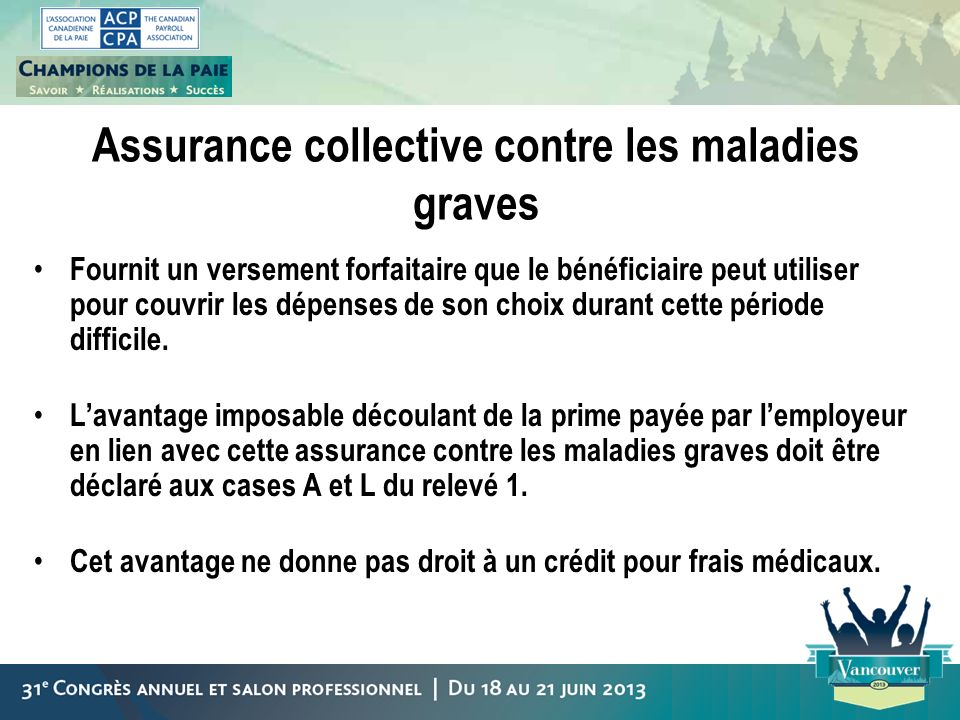 Assurance collective contre les maladies graves