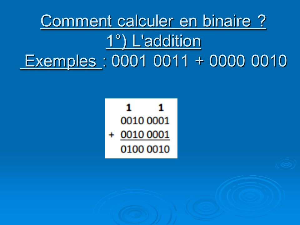 Comment calculer en binaire