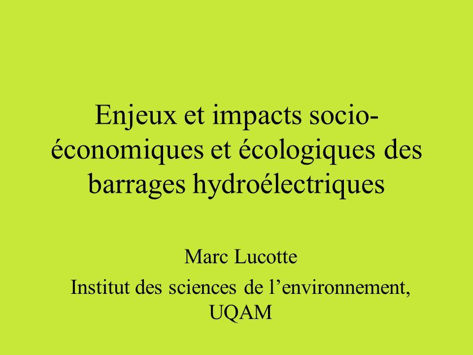 Marc Lucotte Institut des sciences de l'environnement, UQAM