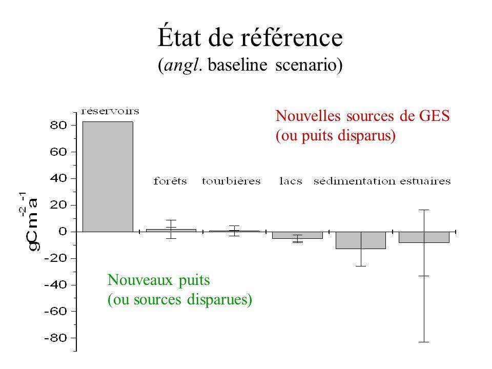 État de référence (angl. baseline scenario)