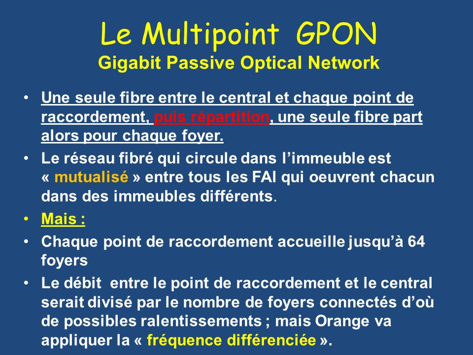 Le Multipoint GPON Gigabit Passive Optical Network