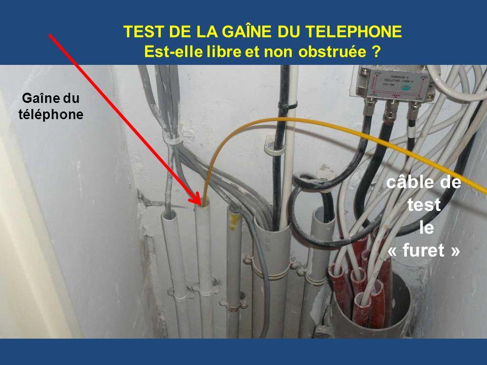 TEST DE LA GAÎNE DU TELEPHONE Est-elle libre et non obstruée