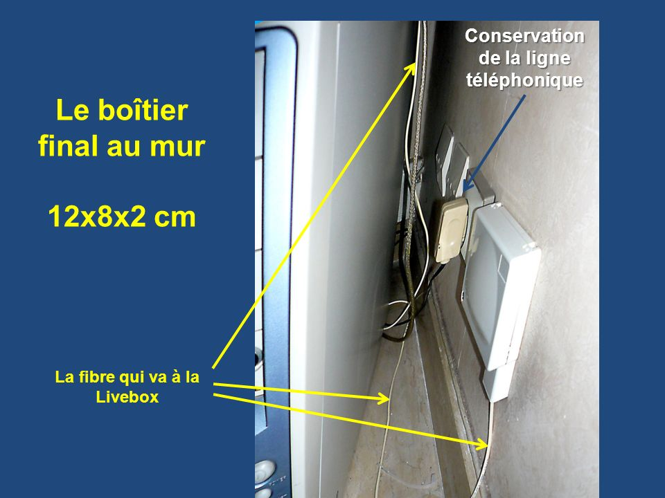 Conservation de la ligne téléphonique La fibre qui va à la Livebox