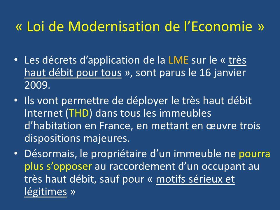 « Loi de Modernisation de l'Economie »