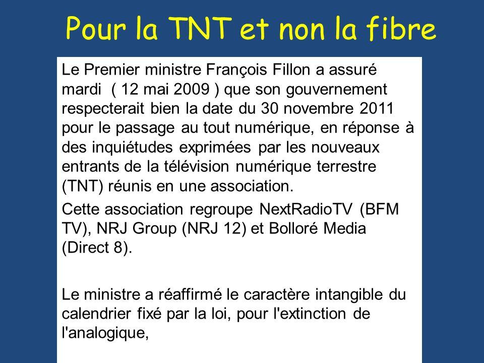 Pour la TNT et non la fibre