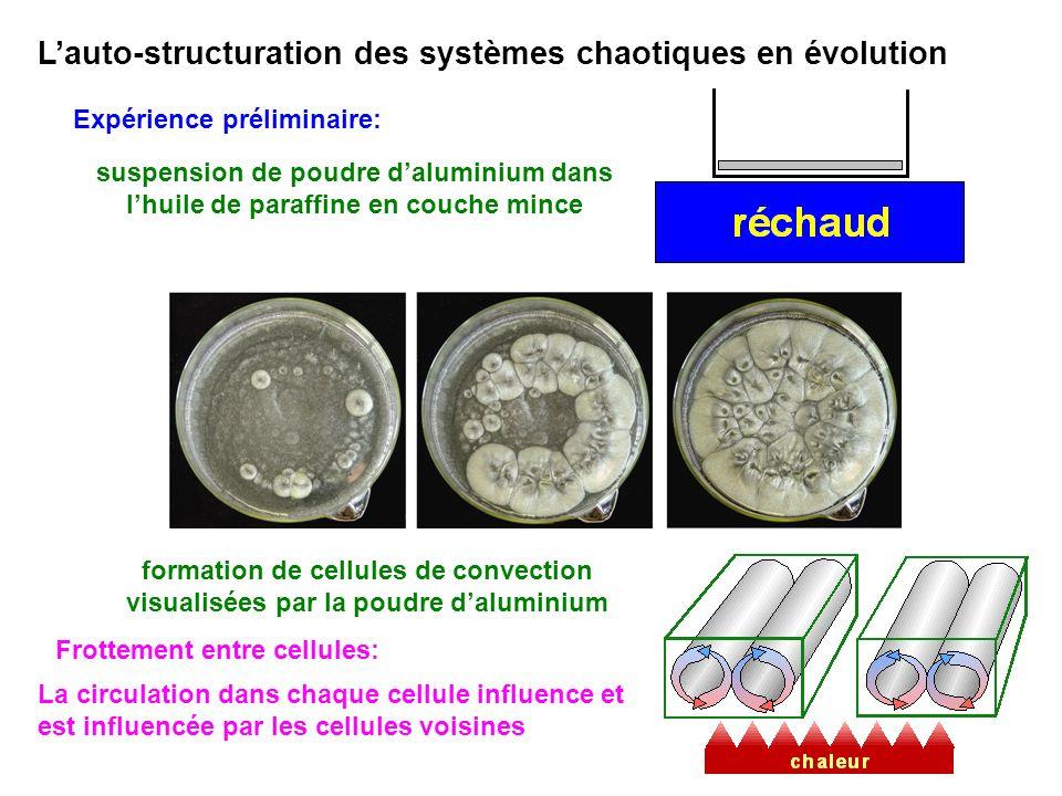 L'auto-structuration des systèmes chaotiques en évolution