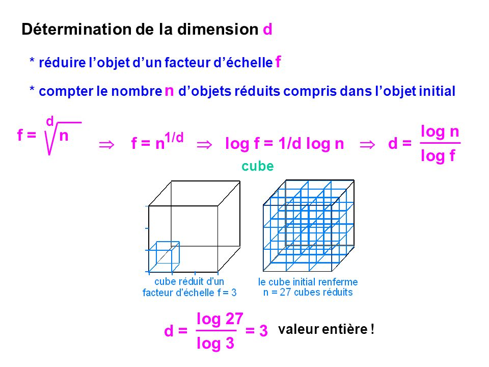 Détermination de la dimension d