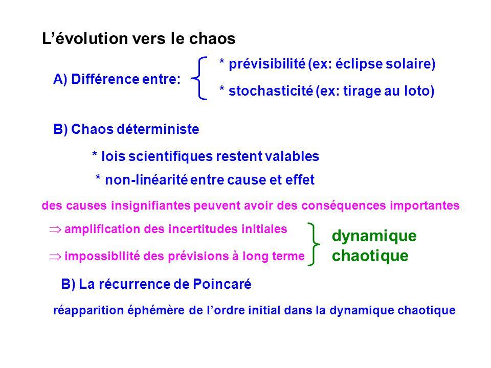 L'évolution vers le chaos