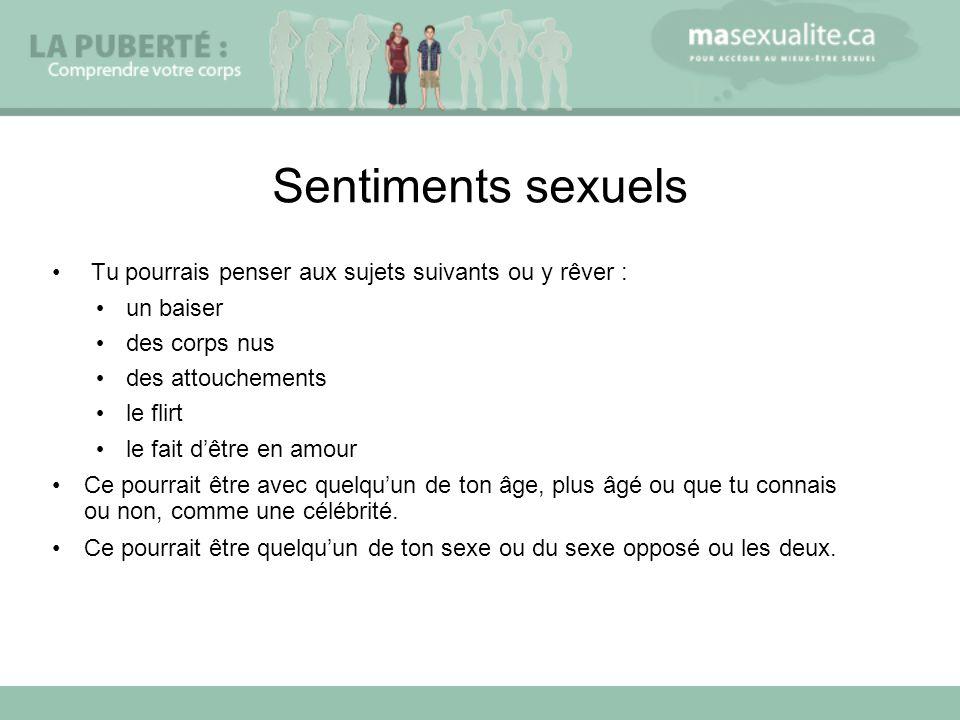 Sentiments sexuels Tu pourrais penser aux sujets suivants ou y rêver :