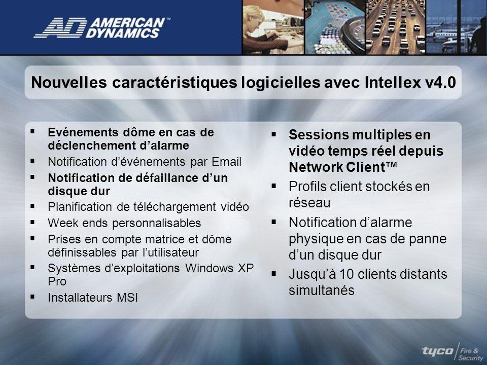 Nouvelles caractéristiques logicielles avec Intellex v4.0