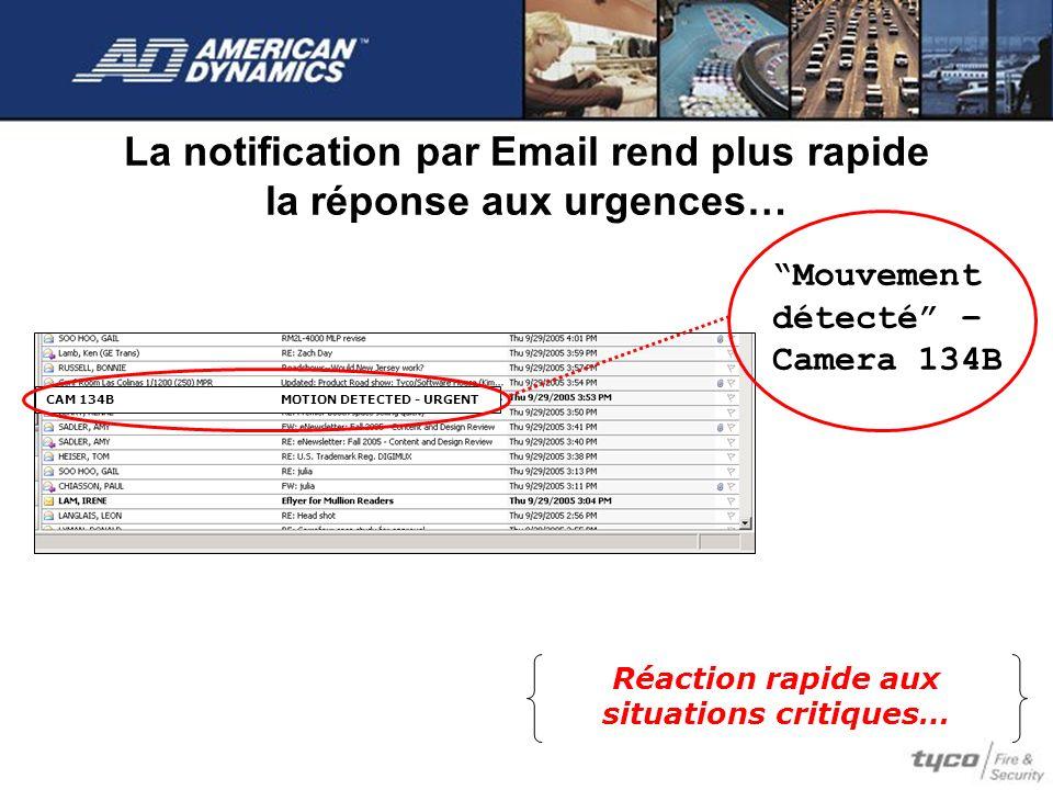 La notification par Email rend plus rapide la réponse aux urgences…