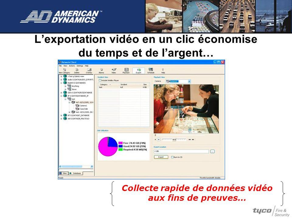 L'exportation vidéo en un clic économise du temps et de l'argent…