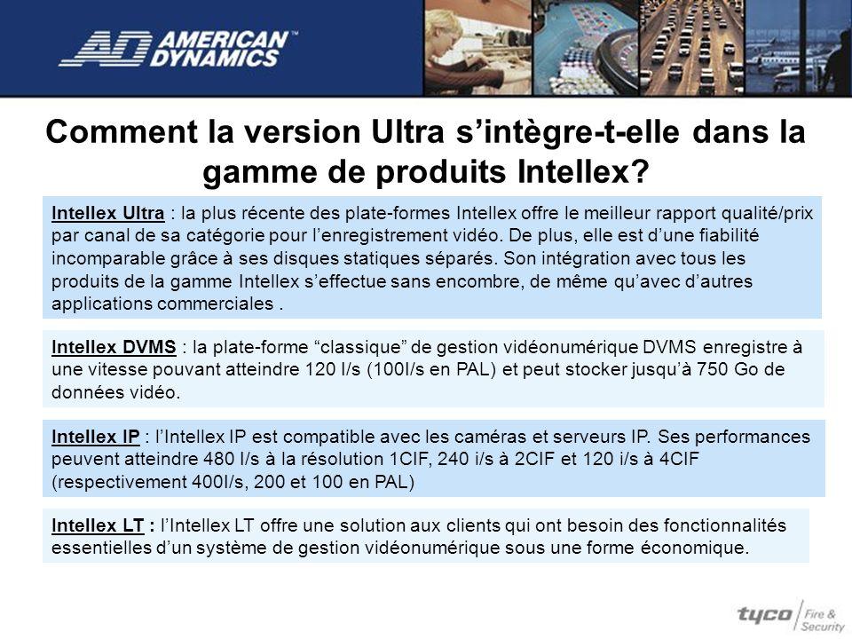 Comment la version Ultra s'intègre-t-elle dans la gamme de produits Intellex
